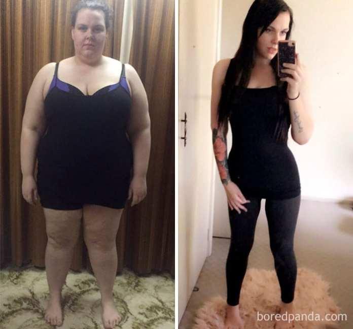 pierderea greutate quinn dexter înainte și după