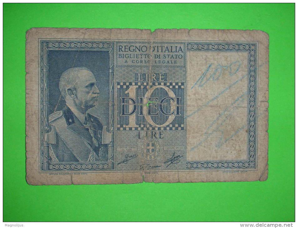 10 lire slim în jos