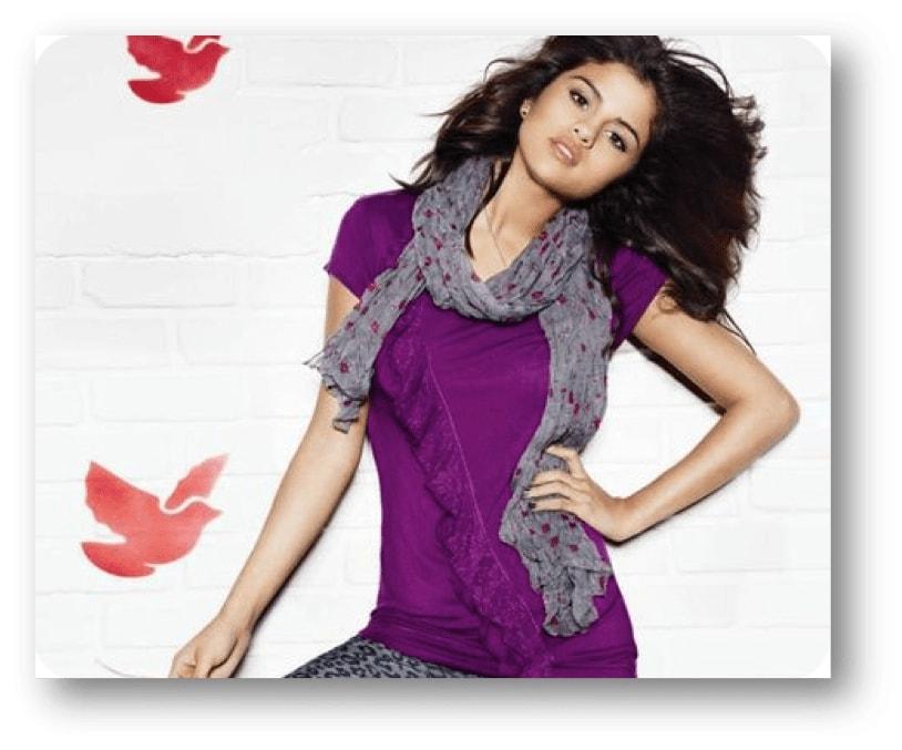 Selena Gomez: parametrii de greutate, înălțime și figura unei fete talentați