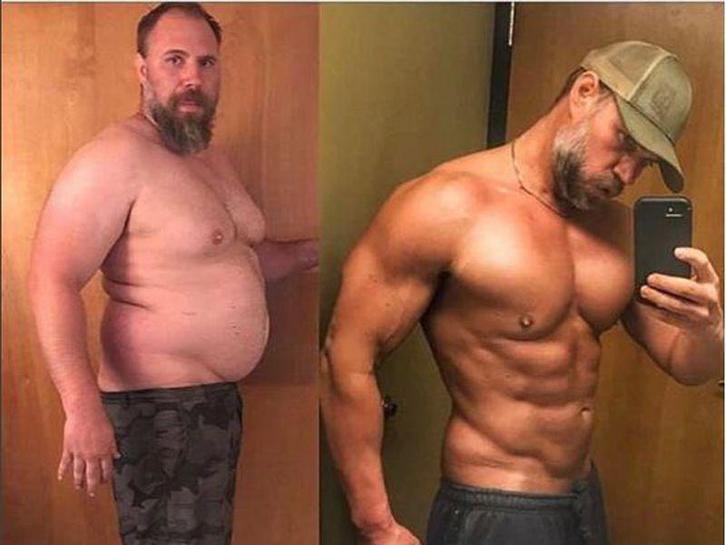 bărbatul 40 pierde în greutate